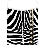 Barker Creek Peel and Stick Library Pocket, Zebra Design, 30/Pack