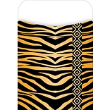 Barker Creek Library Pocket, Tiger Design, 30/Pack