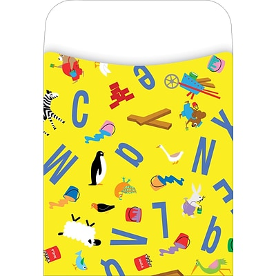 Barker Creek Library Pocket, ABC Animals Design, 30/Pack