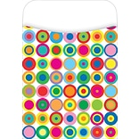 Barker Creek Peel and Stick Library Pocket, Disco Dots Design, 30/Pack
