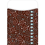 Barker Creek Peel and Stick Library Pocket, Hot to Dot Design, 30/Pack