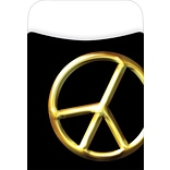 Barker Creek Peel and Stick Library Pocket, Peace Symbol Design, 30/Pack