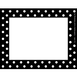 Barker Creek Black and White Dot Name Tag, 3 1/2 W x 2 3/4 D, 45/Pack