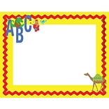 Barker Creek ABC Animals Name Tag, 3 1/2 W x 2 3/4 D, 45/Pack
