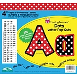 Barker Creek Dots 4 Letter Pop Out, All Age