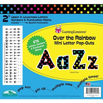 Barker Creek Rainbow 2 Letter Pop Out, All Age