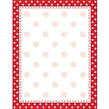 Barker Creek Red and White Dot Stationary
