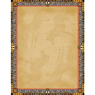 Barker Creek Africa Stationery Decorative Paper 8.5 x 11, Brown (LL721)