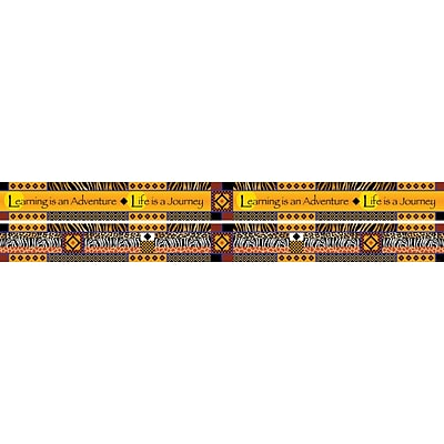 Barker Creek Double Sided Africa Trim, 35 L x 3 W, 12/Pack