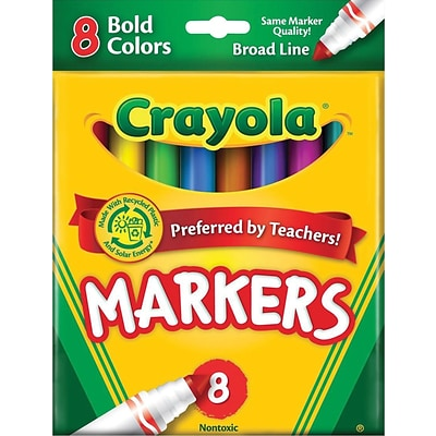 Binney & Smith Crayola® Bold Markers, Assorted Colors, 8/Pack