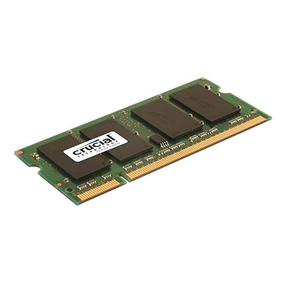 Crucial Technology CT25664AC667 DDR2 (200-Pin SO-DIMM) Laptop Memory, 2GB