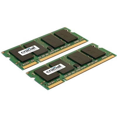 Crucial Technology CT2KIT51264AC800 DDR2 (200-Pin SO-DIMM) Laptop Memory, 8GB