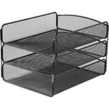 Safco® Onyx™ Triple Tray, Black, 3 Trays/Compartments (3271BL)