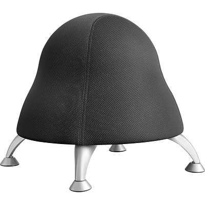 Safco Ergonomic Fabric Ball Chair, Armless, Black