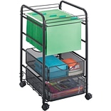 Safco® Onyx 2-Drawer Mesh Open File, Black, Letter (5215BL)