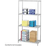Safco Industrial 4-Shelf Metal Unit, 36, Metallic Gray (5285GR)