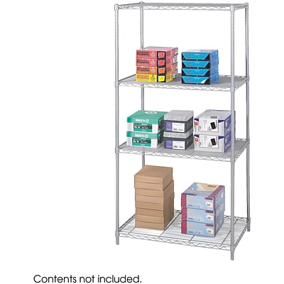 Safco® 5288 Steel Industrial Wire Shelving, 36(W) x 24(D), Metallic Gray