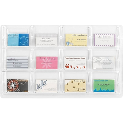 Safco® Reveal™ 5618 Business Card Display With 12 Pockets, Clear