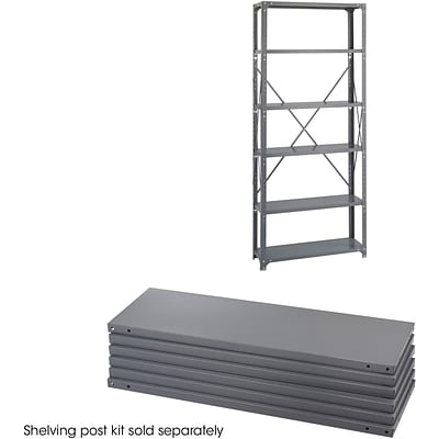 Safco® 6250 Steel Industrial Shelf Pack, 36(W) x 12(D), Gray