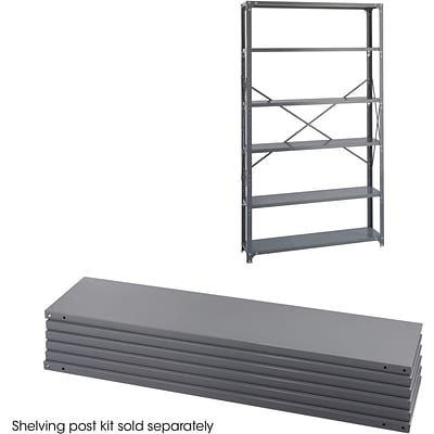 Safco® 6251 Steel Industrial Shelf Pack, 48(W) x 12(D), Gray