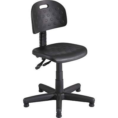 Safco Soft Tough Polyurethane Back Plastic Computer and Desk Chair, Black (6902)