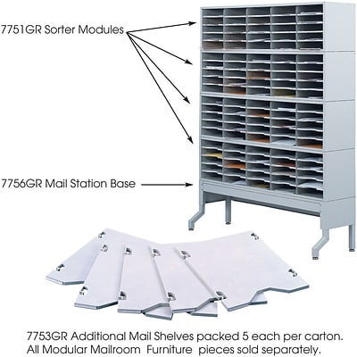 Safco® E-Z Sort® 7753 Additional Mail Tray, Gray