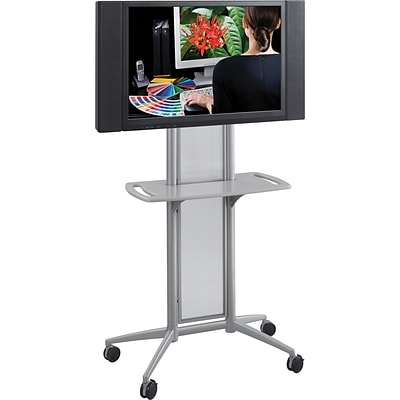 Safco® Impromptu® 8926 Flat Panel TV Cart; Metallic Gray