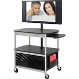Safco® Scoot™ 8940 Open Flat Panel Multimedia Cart, Black