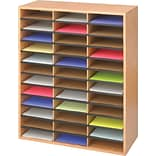 Safco® 9403 Literature Organizer, 34 1/2(H) x 29(W) x 12(D), Medium Oak