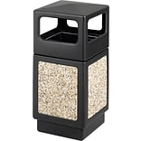 Safco Canmeleon 38 gal. Plastic Side Opening Aggregate Panel without Lid; Black