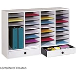 Safco 32-Compartment Wood Compartment Storage, Gray (9494GR)