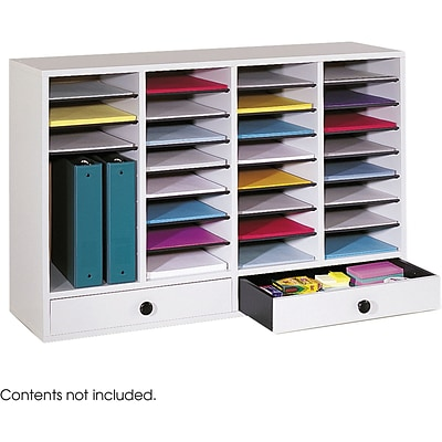 Safco® 9494 Adjustable Literature Organizer, 25 1/4(H) x 39 1/4(W) x 11 3/4(D), Gray