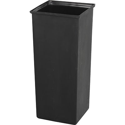 Safco Reflections 21 gal. Plastic Open Top Recycling Receptacle, Black