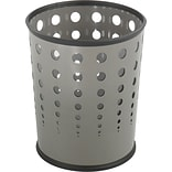 Safco, Bubble Steel Trash Can with no Lid, Gray, 6 gal. (9740GR)