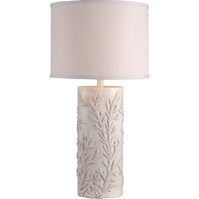 Kenroy Home Reef Table Lamp, Antique White Finish