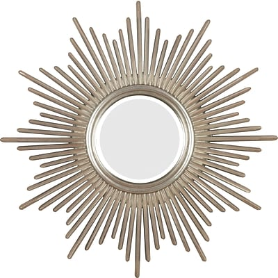 Kenroy Home Reyes Wall Mirror, Antique Silver with Warm Highlights Finish