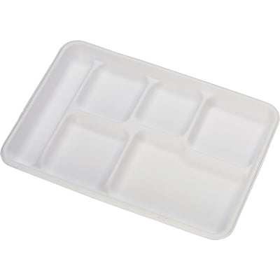 Chinet® Molded Fiber Cafeteria Tray; White, 500/Pack
