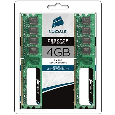 Corsair VS4GBKIT800D2 DDR2 (240-Pin DIMM) Memory Module; 4GB