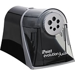 Westcott® iPoint Evolution Axis Pencil Sharpener, Black (15509)