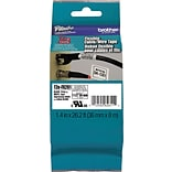 Brother P-Touch TZe Flexible ID Laminated Labeling Tape, 1 1/2 x 26.2 ft., Black, Each (TZEFX261)