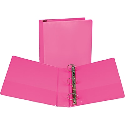 Samsill Fashion Standard 2 3-Ring View Binder, Pink Berry (U86676)
