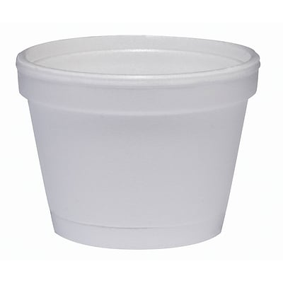 Dart® 4J6 Foam Food Container, White, 4 oz., 1000/PK