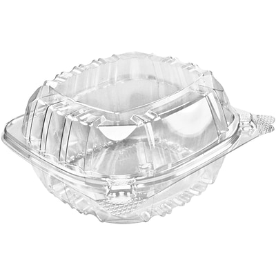 "Dart® ClearSeal® Clear Hinged Containers 6 x 5.75 x 3"", 500/Pack (C57PST1)"