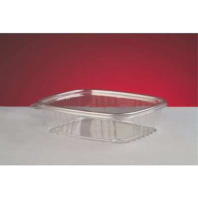 Genpak® AD24 Hinged Deli Container; Clear, 2 1/4(H) x 6.38(W) x 7 1/4(D), 200/Pack