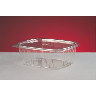 Genpak® AD32 Hinged Deli Container; Clear, 2.63(H) x 6.38(W) x 7 1/4(D), 200/Pack