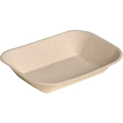 Chinet® JUST Food Tray, Beige, 7(W) x 9(D), 250/Pack