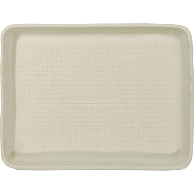 Chinet® StrongHolder® Molded Fiber Food Tray, Beige, 250/PK