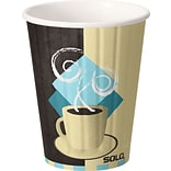 Solo® Tuscan Café™ Duo Shield® Insulated Paper Hot Cups; 12 oz., 600/PK