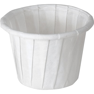SOLO® 075 Treated Paper Souffle Portion Cup; White, 0.75 oz., 5000/Pack
