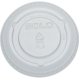 SOLO® PL4N No-Slot Cold Cup Lid; Fits 3-1/4oz. - 5-1/2oz. Cups; Clear, 2500/Pack